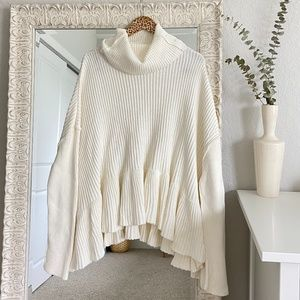 NWOT Free People Layer Cake Trapeze Sweater Ivory